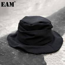 Pleated Spring Fashion Women Fishermen-Hat Round Black New Dome Autumn Tide EAM