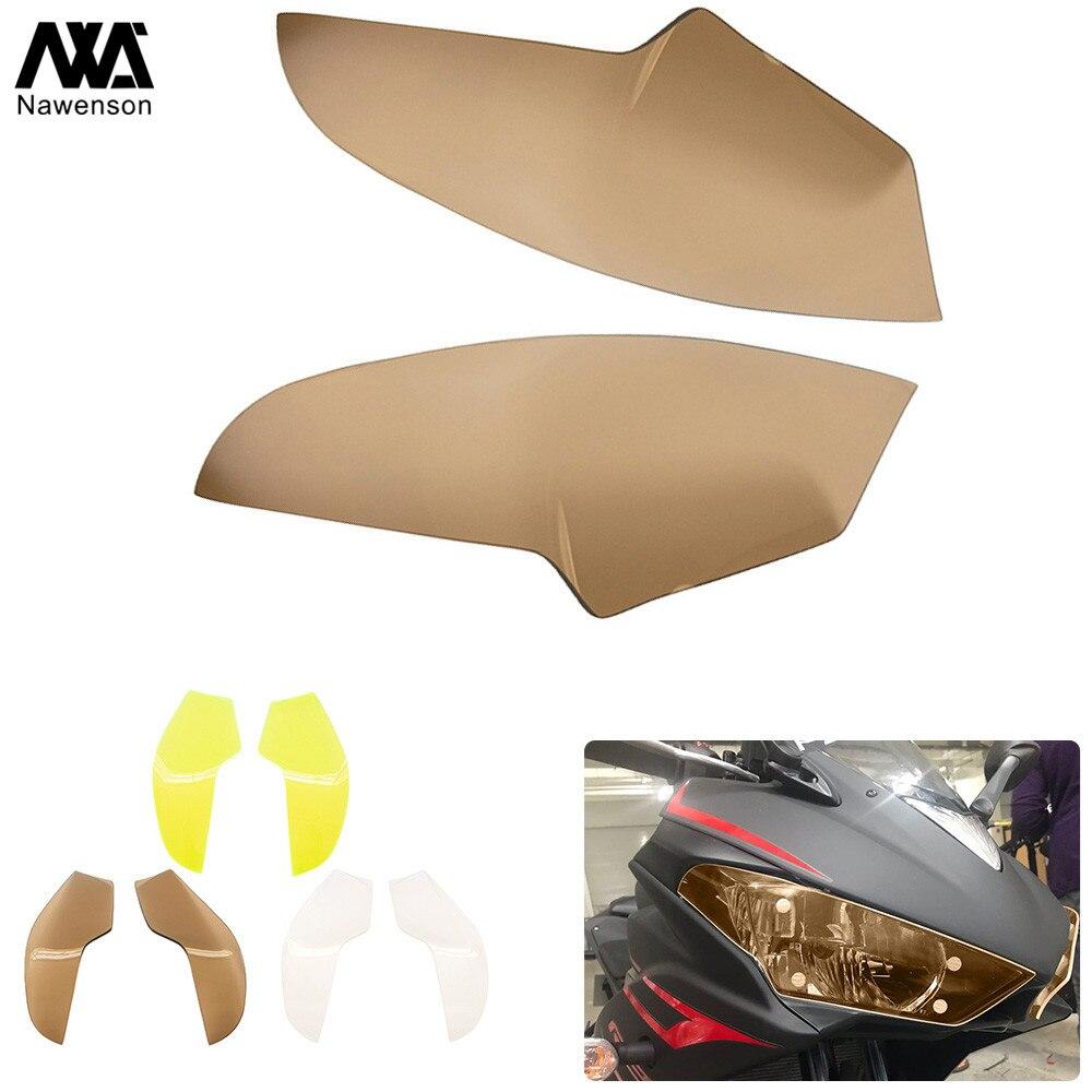 Bouclier de phare de moto en plastique ABS, couvercle de protection d'écran de lampe avant pour YZF R3 2015 – 2018 2017 pour YZF R25 2014-2018