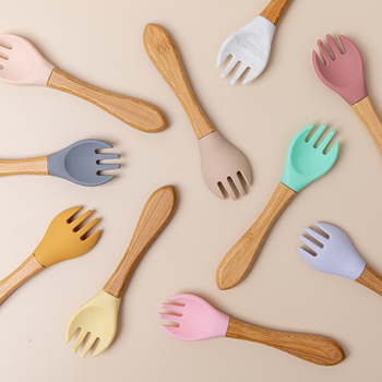 Organic Soft Tip Fork/Spoon Children Growing up Needs Kitchen Tool cb5feb1b7314637725a2e7: Beige|Black|Blue|Brown|Gold|Gray|Green|Multi|Orange|Pink|Purple|Red|Silver|White|Yellow