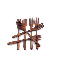 Zero Waste-cubiertos de tenedor de bambú reutilizables, orgánicos, portátiles, de alta calidad, herramientas de cocina, gran oferta, envío directo