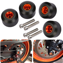Fit For KTM DUKE 125 200 2012-2018 250 2016-2018 390 RC 125 200 250 390 Front Rear Axle Wheel Protector Slider Crash Pads