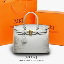 2020 new women's bags Fashion design a variety of styles of cow leather platinum bag Single shoulder diagonal bag