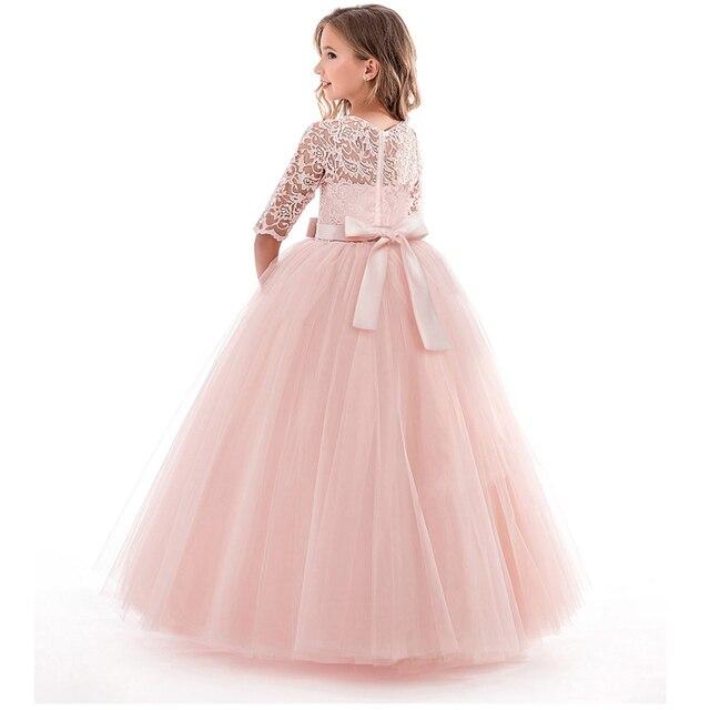 Kids Flower Girls Wedding Dress For Girl Party Dresses Lace Princess Summer Teenage Children Princess Dress 8 10 12 14 Years 1
