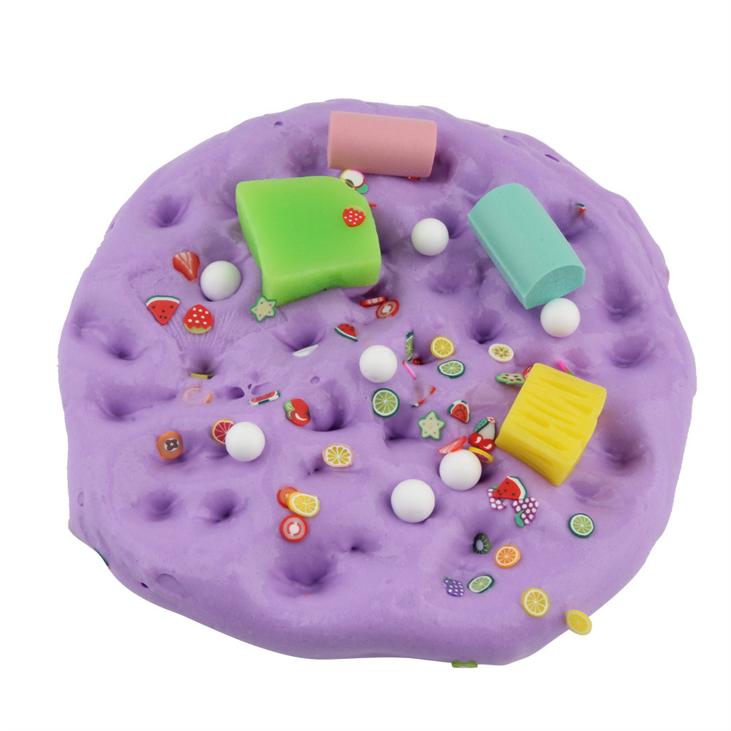 Fluffy Fruit Cloud Slime Fluffy Slime Stress Relief Toys Decompressed Cloud Mud Clay Slime Play Dough Toy #B
