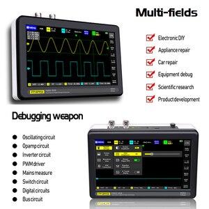 Image 3 - Осциллограф ADS1013D, 2 канала, ширина полосы 100 МГц, частота дискретизации 1 Гвыб/с, осциллограф с 7 дюймовым цветным сенсорным ЖК экраном TFT Возьми еще 500 руб.заказ превышает 5000 руб