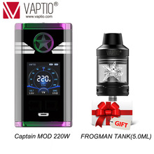 Gift tank Vaptio CAPTAIN Vape MOD 220W E Cigarette box mod 18650 battery(not include) fit 510 thread atomizer for TFV8 BabyTank