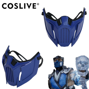 Маска для косплея Xcoser Mortal Kombat XI Sub-Zero, полимерная полумаска для лица, шлем MK11, Реплика игр для взрослых на Хэллоуин