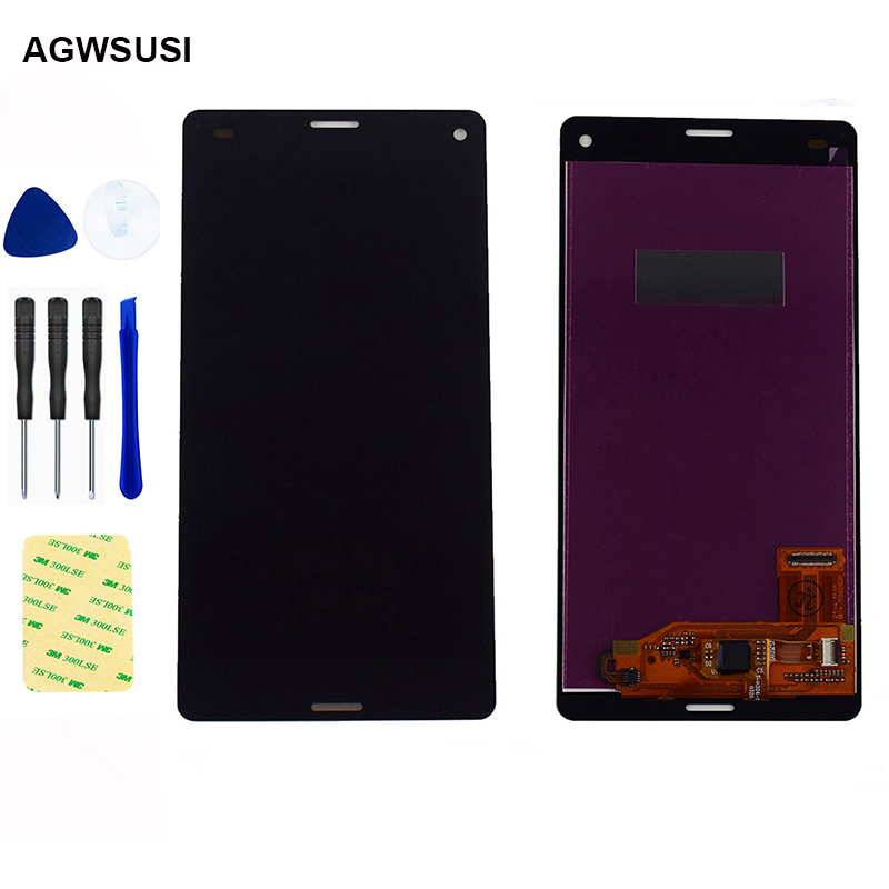 For Sony Xperia Z3 Mini LCD Screen Z3 Compact LCD D5803 D5833 LCD Display Screen Touch Screen Digitizer Sensor Glass Assembly