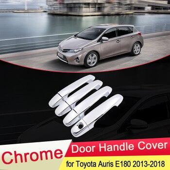 for Toyota Auris E180 Hatchback (AU) Scion iM 2013 2014 2015 2016 2017 2018 Chrome Door Handle Cover Car Cap Styling Accessories for hyundai i20 ii 2 2015 2016 2017 2018 chrome car door handle cover accessories