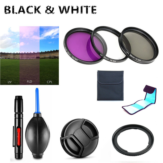 UV FLD CPL Filter / Adapter ring / Cap / Cleaning pen / Air Blower for Canon Powershot SX540 SX530 SX520 HS Camera