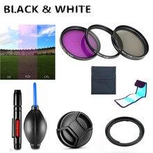 UV FLD CPL filtre/Adaptör halkası/Kap/Temizleme kalemi/Hava Üfleyici Canon Powershot SX540 SX530 SX520 HS