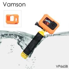 Vamson Float Case Bobber Floaty 핸드 헬드 Go Pro Hero 9 액세서리 EVA 커버 Gopro Hero9 Black Floaty Case VP665 용 오렌지