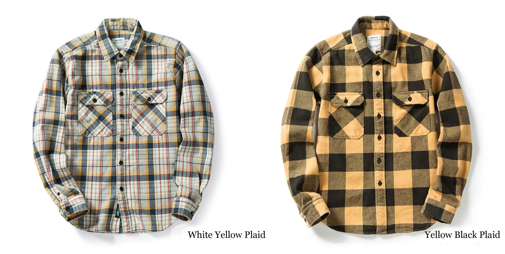 H60804d8b674749c5a8bc94881b6d29bcQ 100% cotton heavy weight retro vintage classic red black spring autumn winter long sleeve plaid shirt for men women