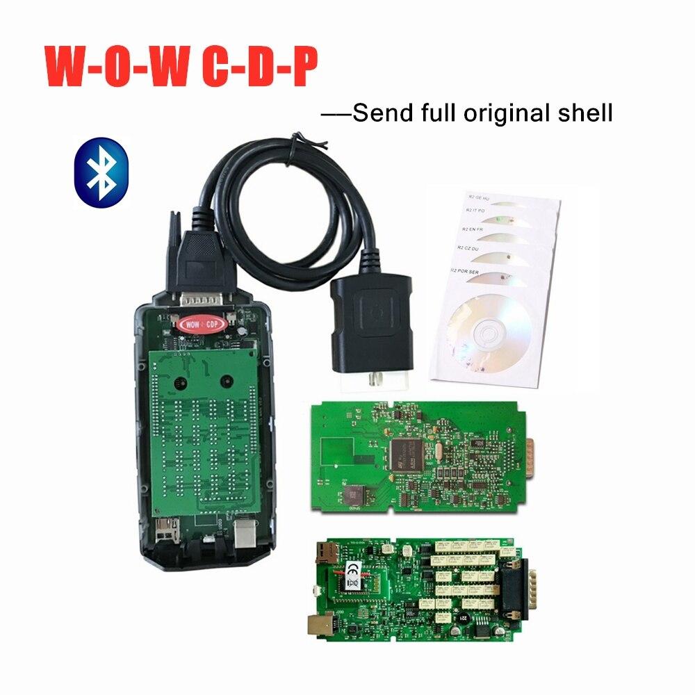 Qualität A + einzelne grüne pcb W-O-W snooper v5.008 R2/2016R0 vd ds150e c-d-p für delphis obd auto lkw diagnose werkzeug w-o-w c-d-p
