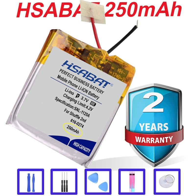 Top Brand 100% New 250mAh 616-0274 Battery for iPOD Shuffle 2nd Generation 2 Shuffle2 G2 G3 3 616-0278 in stock(China)