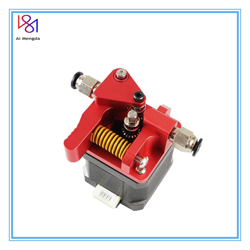 Upgrade Red Mk8 Double Pulley Extruder For Cr-10s Cr10s Ender3 Pro Tornado 3d Printer Accessories