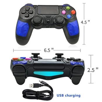 Controlador De Playstation 4 Dualshock   K ISHAKO Joystick Y Controlador De Juegos Ps4 Dualshock 4 Controlador Bluetooth Inalámbrico Gamepad Consola Para Playstation4 ABS Plástico