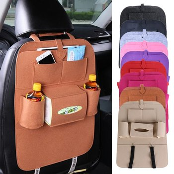 Car Backseat Organizer Universal Automobile Seat Back Storage Bag Stowing Tidying Box Multifunction Organizers Seat Accessoires image