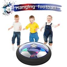 Kids Toys Hover Soccer Ball Rechargeable Air Funny LED Light Football With Foam Cushioning For Indoors Game(China)