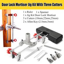 8 sztuk okucie okucia drzwiowe Jig Lock Mortiser DBB Key JIG1 z 3 nożami Case nowe narzędzie zestaw konserwacyjny cheap DOERSUPP CN (pochodzenie) other