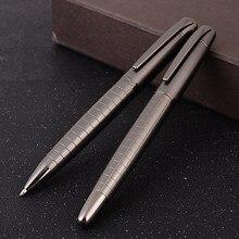 Luxo pesado sentir esferográfica de metal canetas escola escritório assinatura rolo caneta escrita esferográfica estudante artigos de papelaria suprimentos