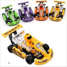 Puzzle-Toy Go-Kart Children's Racing Car Plastic Inertia Huilong Vehicles Formula-Car