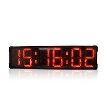 """8 """"Singel sided grande Display de LED à prova d água esportes ao ar livre corrida relógio com cronômetro temporizador temporizador de contagem regressiva digital"""