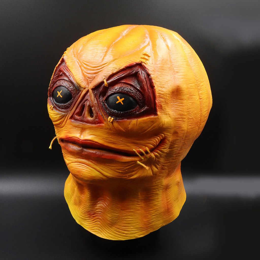 البرتقال نمط قناع ذوبان الوجه الكبار اللاتكس زي هالوين مخيف تأثيري قناع كرنفال helloween قناع مضحك قناع