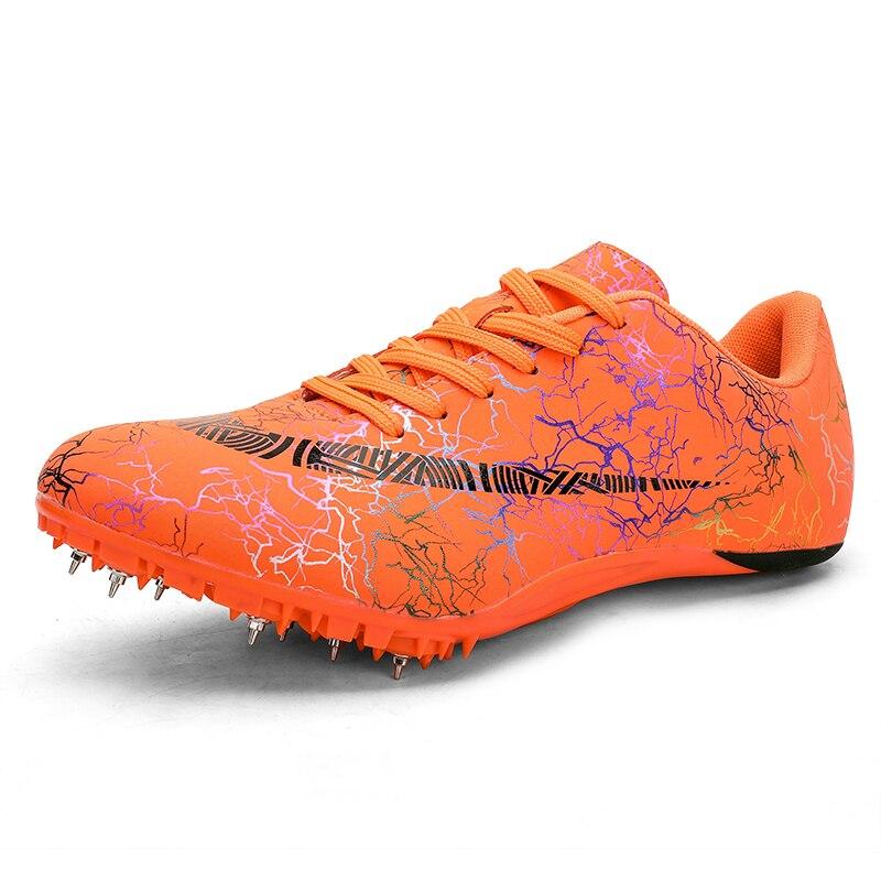 Обувь унисекс для трека и поля, размер 35-45, профессиональная обувь для соревнований, беговые кроссовки высокого качества, кроссовки для бега - Цвет: Orange