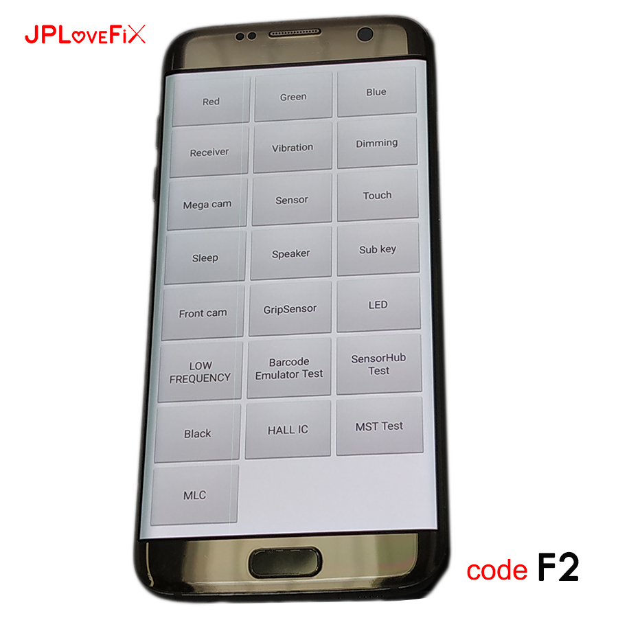 JPFix With Frame Only For Samsung S7 Edge G935F LCD Panel Leakage Shadow Line Display Screen Glass Assembly Replacement