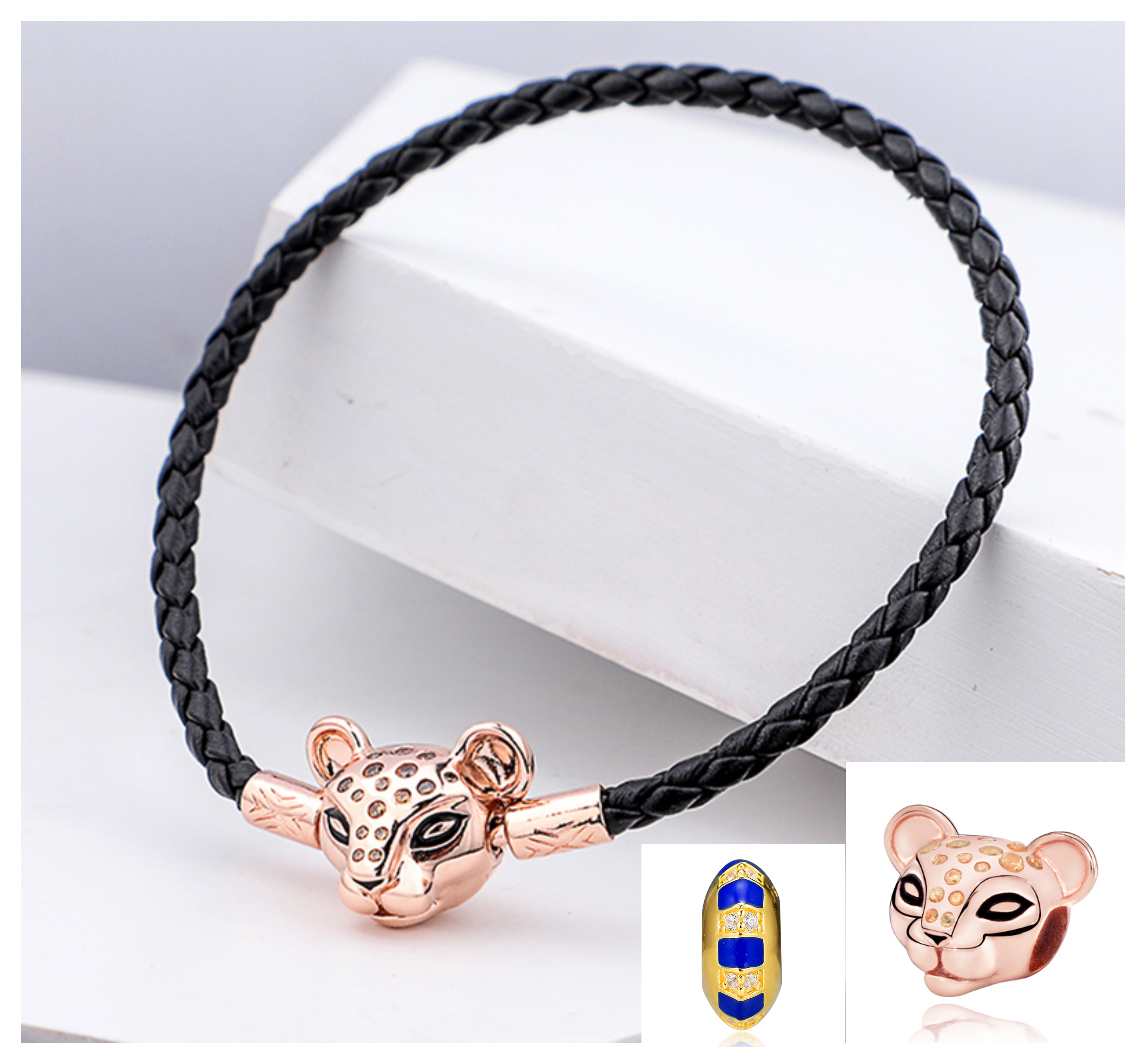 Authentic.925 Solid Sterling European Charm Fit PAN BRACELET PUPPY DOG