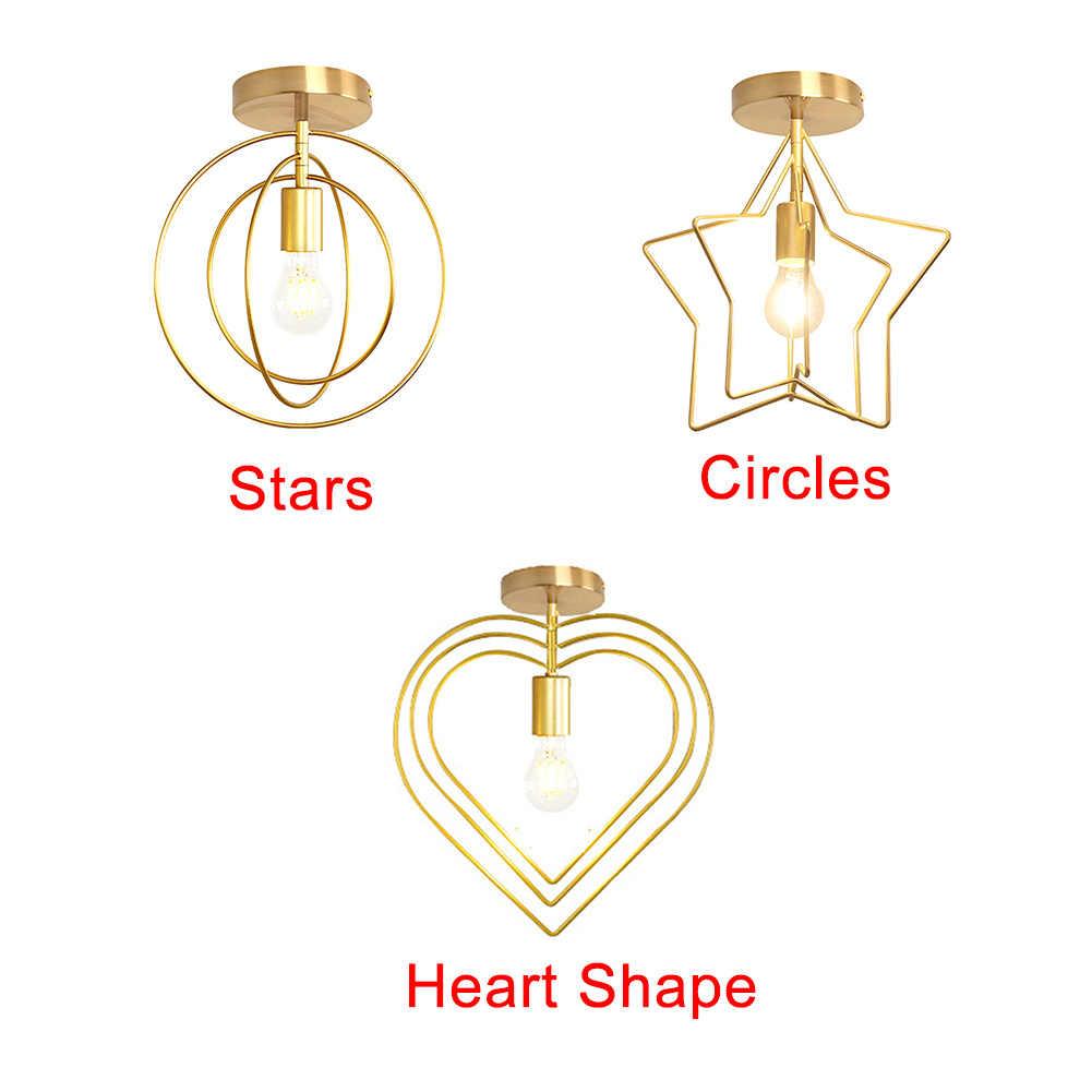 Home Decor Bathroom Art Living Room Energy Saving Gift Stars And Circles Iron Easy Install Ceiling Lamp Bright Heart Shape Lights Aliexpress