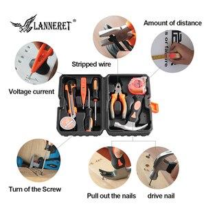 Image 3 - LANNERET 8 stücke Hand Tool Set Tool Kit mit Schraubendreher Test Bleistift Hammer Hand Werkzeuge BMC Box