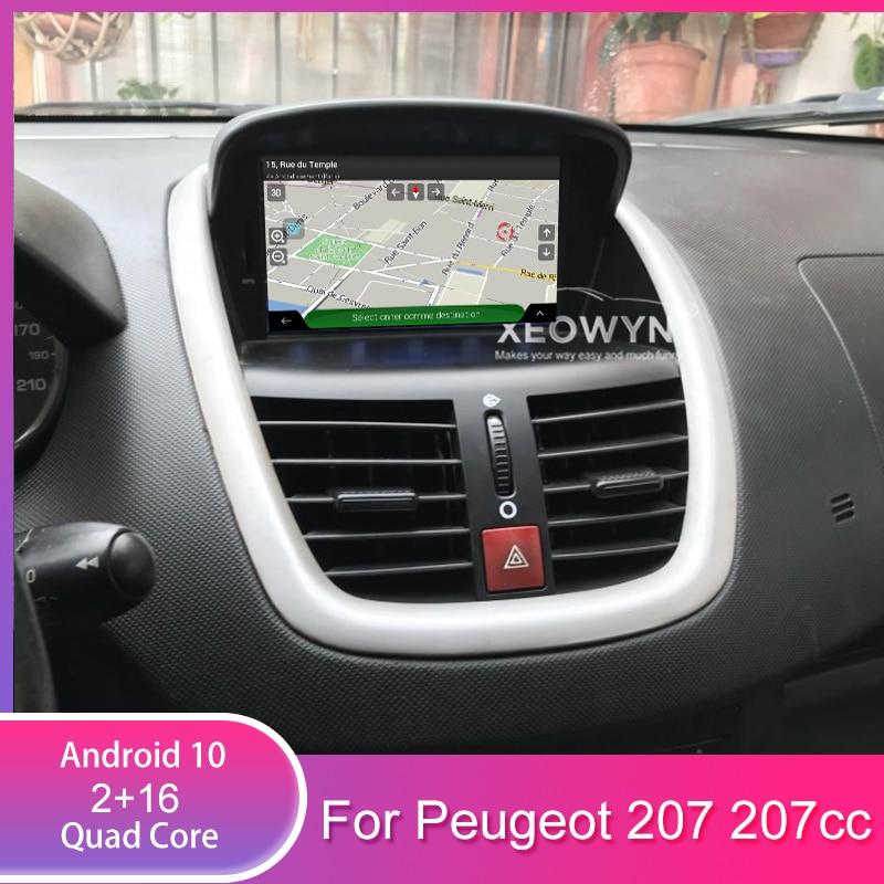 Quad Core Auto Radio Car Dvd Player For Peugeot 207 2007-2014 GPS Navigation Radio Stereo Bluetooth USB Multimedia Free Gps Map