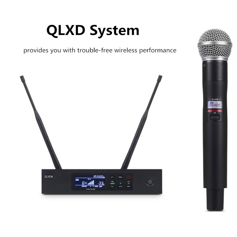 Finlemho UHF Wireless Karaoke Microphone Home Studio Recording Professional System For Conference