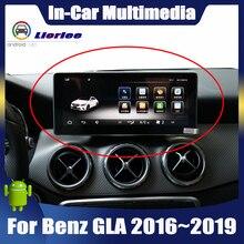 Ekran dotykowy android samochodowy odtwarzacz multimedialny dla Mercedes Benz GLA klasa X156 2016 ~ 2019 wyświetlacz Stereo nawigacja gps