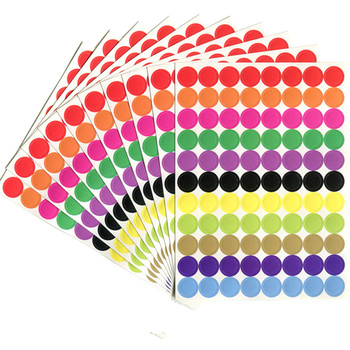 880Pcs/10 Sheet Round Spot Circles Sealing Stiker Removable Coding Label Dot Stickers for DIY Scrapbooking Crafts Making Notes - discount item  40% OFF Stationery Sticker