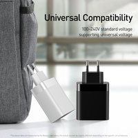 Baseus 4 Ports USB Charger 30W 5V/6A Max Phone Charger with Digital Display Portable Charger For Phone