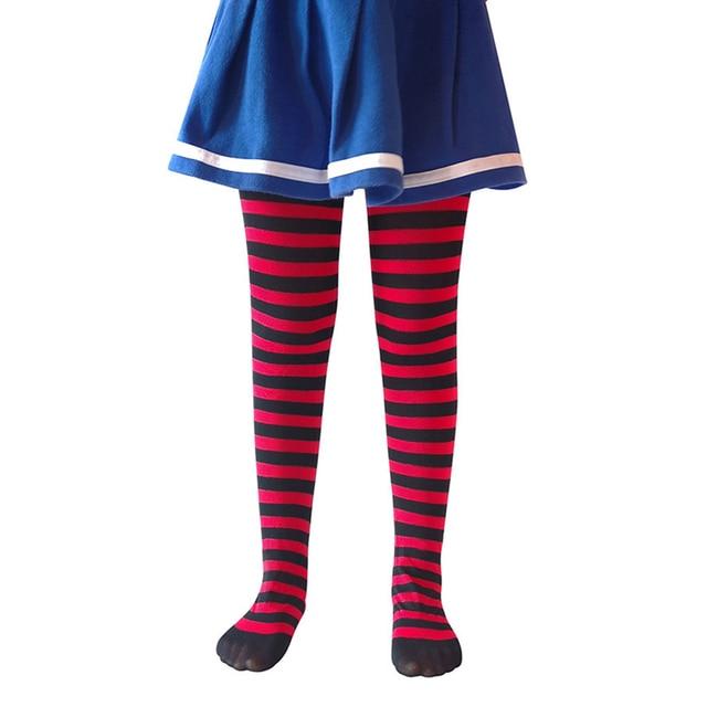 Girl Kids Halloween Colorful Stripe Thights Stockings Pantyhose Socks Trousers