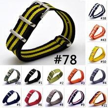 Ремешок нейлоновый для наручных часов nато запасной разноцветный