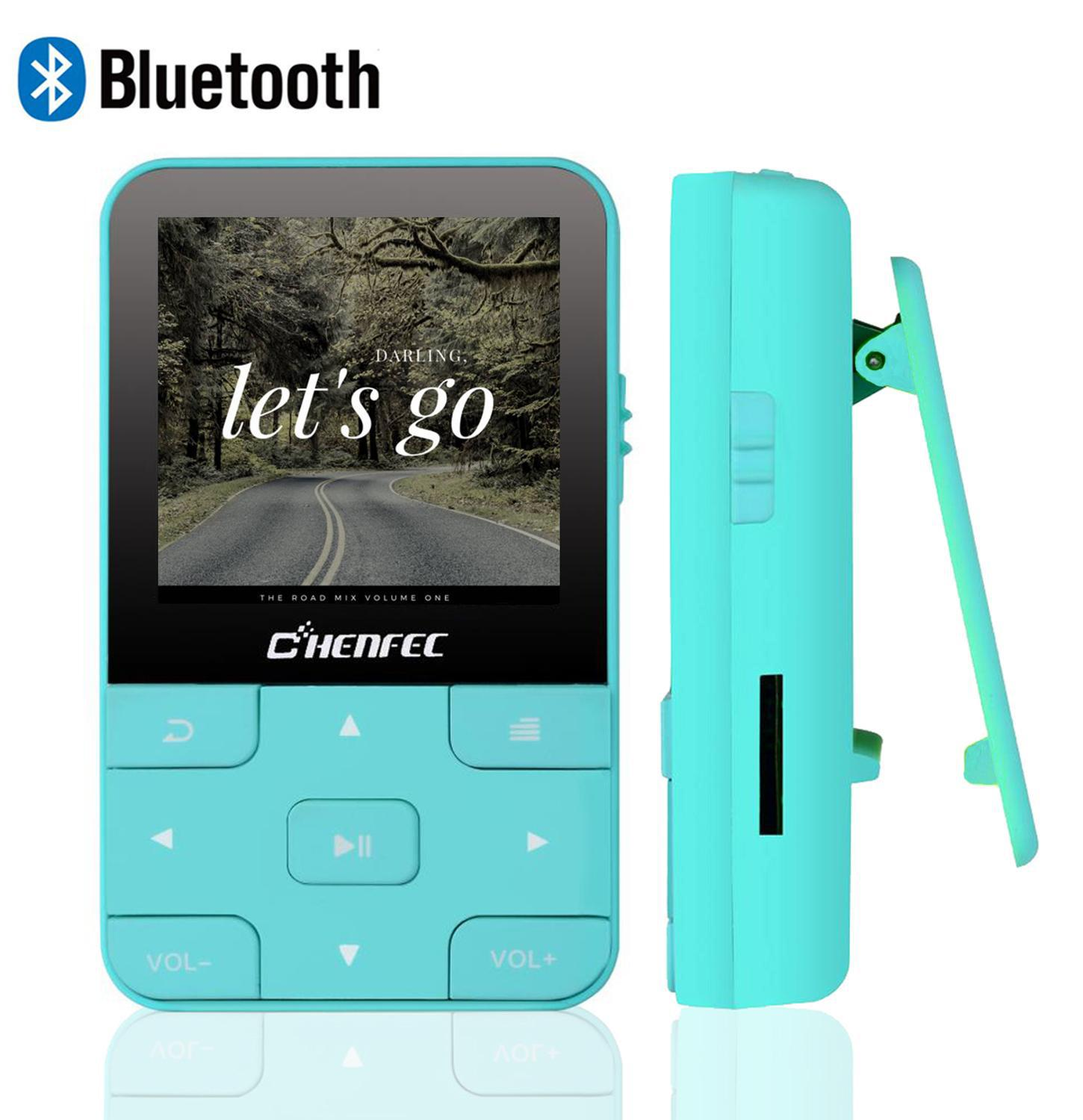 2019 Mini Portable MP3 Player With Bluetooth 4.0 Lossless Music Player With Clip, FM Radio ,Recorder TF Card And Free Armband