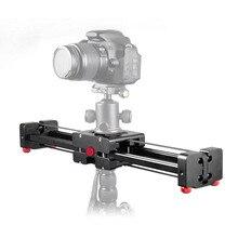 Профессиональный Регулируемый DSLR камера Видео слайдер Трек 40 см двойное расстояние для Canon Nikon sony камера DV Dolly Стабилизатор
