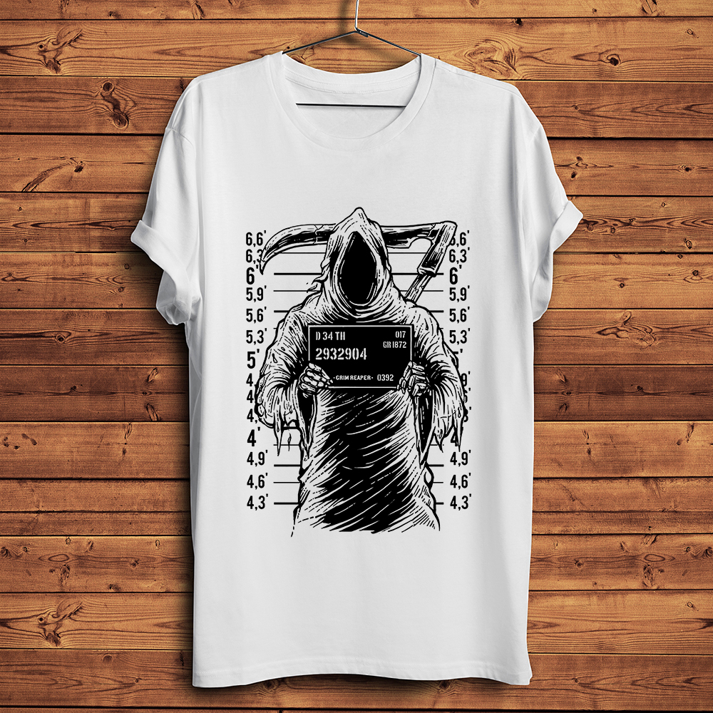 DARTH VADER MUGSHOT Funny Sci Fi Star Movie Crime Wars Tee Joke Hipster T Shirt