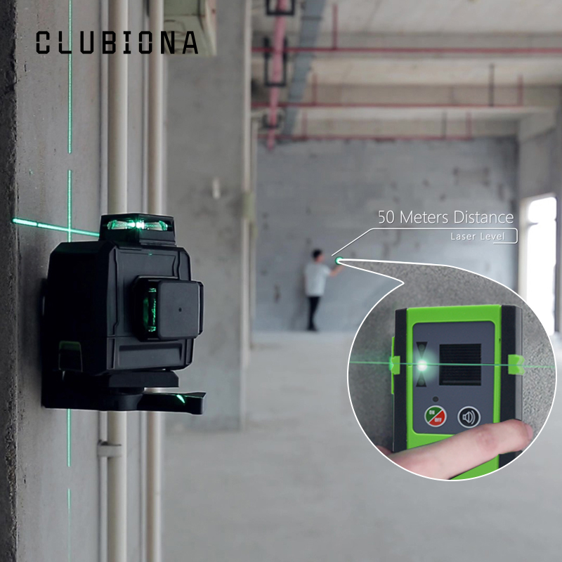 CLUBIONA Self Leveling Laser Level with 5200 Mah BATTERY for Horizontal And Vertical 3D Lines 10