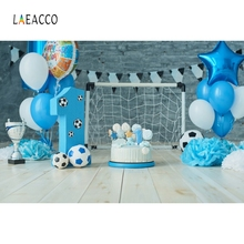 Laeacco Cake Flowers Balloons Baby New Birthday Party Photography Background Customized Photographic Backdrops For Photo Studio