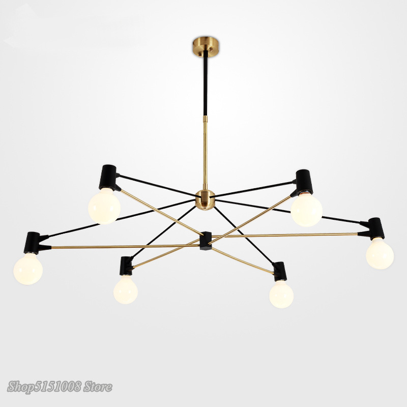 modern Metal Line Chandelier Lights Nordic Hanging Lamp Living Room Dining Room Led Hanging light Home Decor Lighting Fixtures|Chandeliers| |  - title=