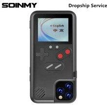 רטרו מלא צבע משחק מקרה עבור Iphone 12 פרו מקסימום 7 8 בתוספת X XR XS מקרה עבור iphone 12 pro עבור iphone 12 פרו מקסימום 12 כיסוי Gameboy