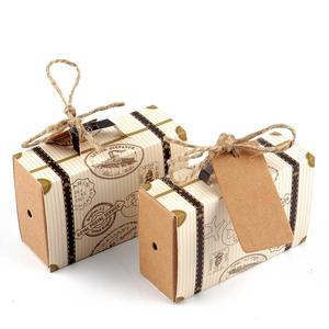 Image 5 - Ourwarm mala de doces, malas com tema clássico para viagem, caixa de presente para aniversário e casamento, caixas de lembrancinhas, 10/peças