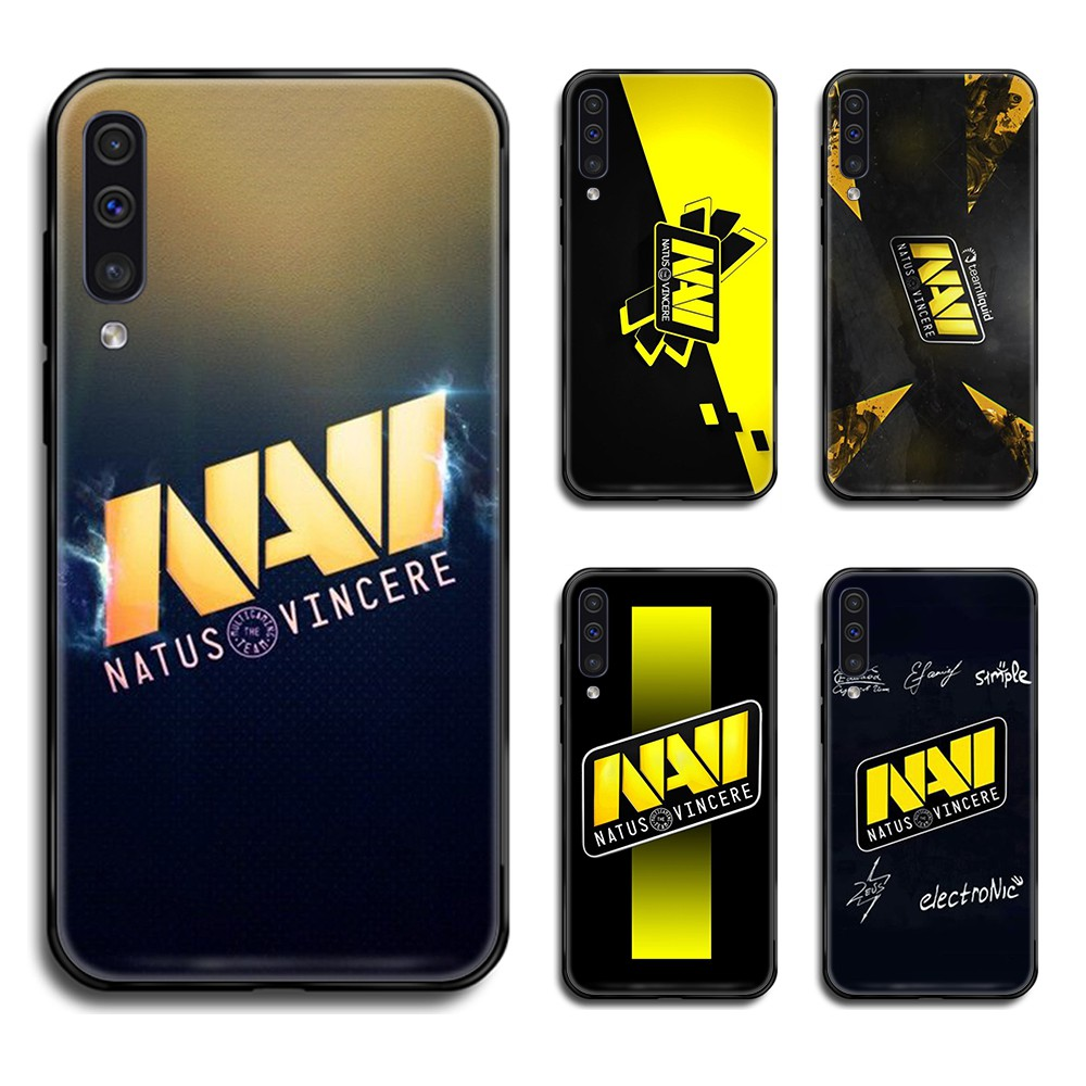 CS GO NAVI black matte solid Liquid Phone Case Cover Hull For Samsung Galaxy A 10 20 30 S E 40 50 51 <font><b>70</b></font> 71 J 5 6 7 8 2017 <font><b>2018</b></font> image