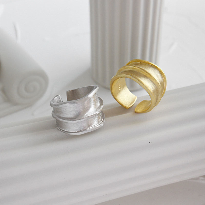 Image 2 - SSTEEL 925 Sterling Silver Rings For Women Lrregular Open Ring Anelli Argento Donna Bijoux Argent Massif Pour Femme JewelryRings   -